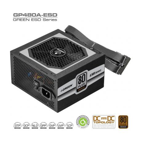 منبع تغذیه گرین مدل GP480A-HED
