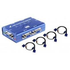 سوییچ KVM چهار پورت USB کی نت پلاس مدل KPU624